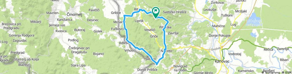 Karlovac county Cycling adventure route 3