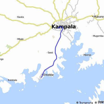 Uganda-Ruanda Etappe 1 (Entebbe-Kampala)