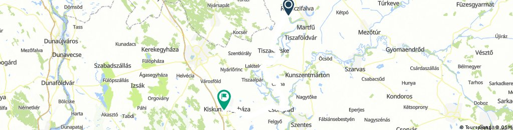 Tiszavárkony - Kiskuhfélegyháza (2.nap) hosszú v2