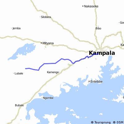 Uganda-Ruanda Etappe 2 (Kampala-Kanoni)