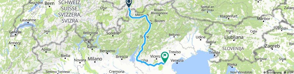 Nauders nach Padua