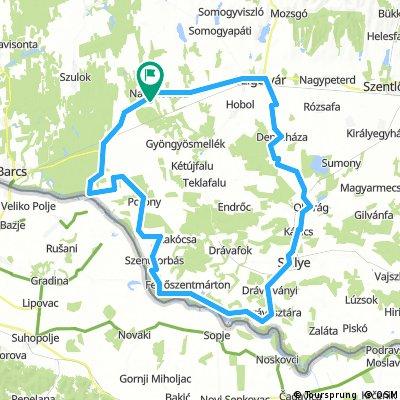 Kisdobsza-Drávatöltés-Sellye-Szigetvár-Kisdobsza