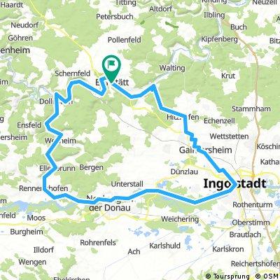 Dom zu Eichstätt über Ingolstadt bis Wallheim und zurück