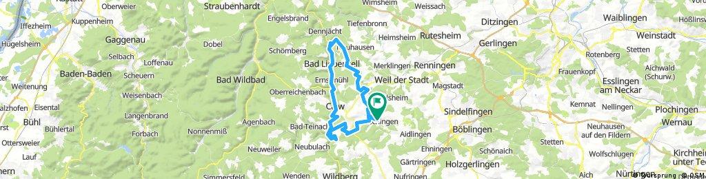 Tour ins Monbach- und Nagoldtal