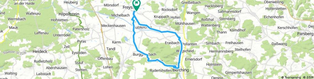 Lange Radrunde durch Freystadt