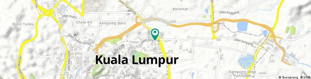 Short ride through Kuala Lumpur