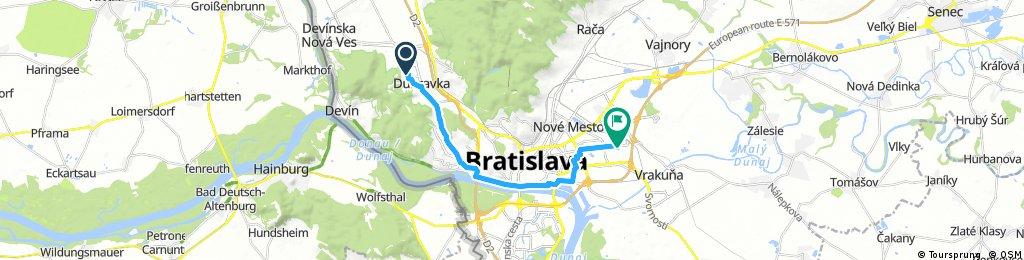 Ružinov Dúbravka bike tour through
