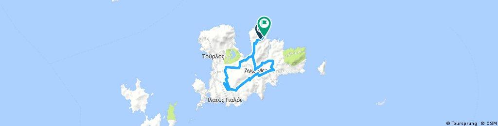 Lengthy bike tour through Ano Mera