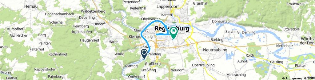 Ausfahrt von Sinzing nach Regensburg