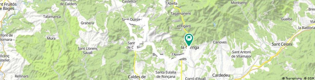 Garriga-La Atmella-Bigues-Sant Feliu de Codines-Sant Miquel de Fai-Sant Quirze Safaja-Sant Feliu de Codines-Bigues-La Atmella-La Garrifa