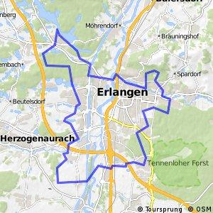 Navigate Km Long Cycling Route In Bavaria Bikemap Your Bike - Erlangen map