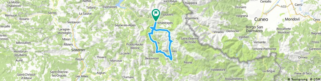 Col d'Allos, Col des Champs, Col de la Cayolle