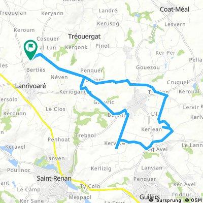 ride through Lanrivoaré