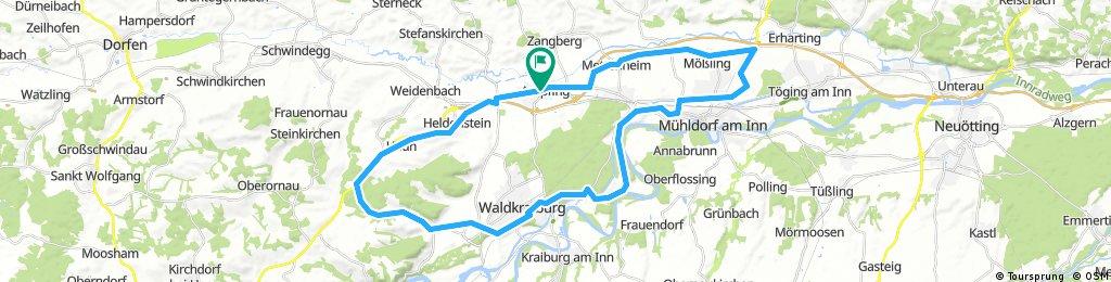 Ampfing - Aschau - Waldkraiburg - Mühldorf - Ampfing