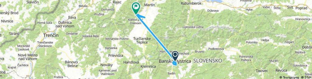 bike tour from Banská Bystrica to Valča