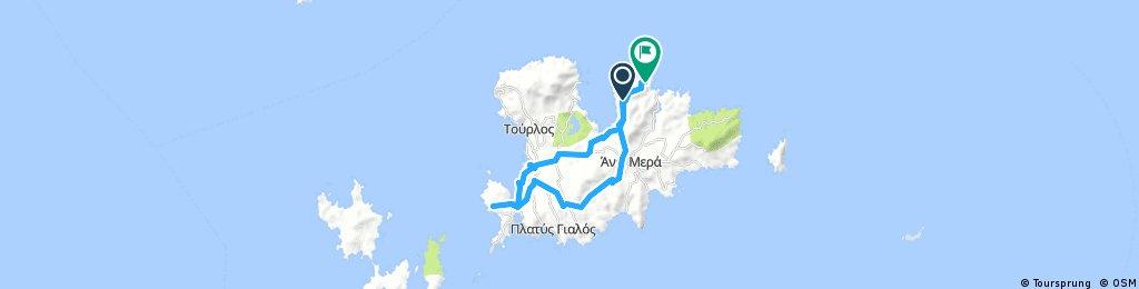 bike tour through Ano Mera