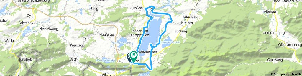 Füssen round the lake