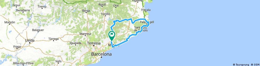 Llinars - Girona - Costa Braba - Mataró - Llinars
