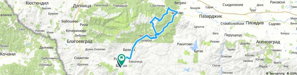 Bansko - Iundola - Belovo - Petrohan - Bansko