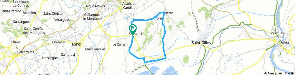 Long bike tour through Vauvert
