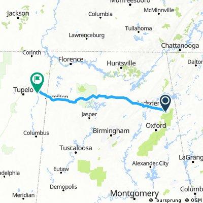 Piedmont, Ala to Fulton Ms