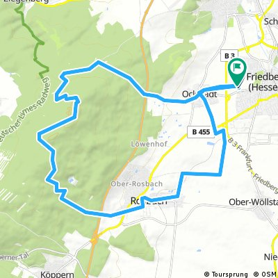 Radrunde durch Friedberg (Hessen)