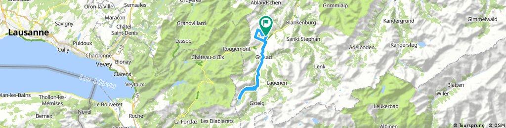 Rosegarte - Arnensee - Rellerli (mit Bahn) - Rosegarte