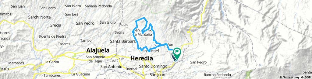 53k Ruta, San miguel-San Isidro-San Rafael-Barva