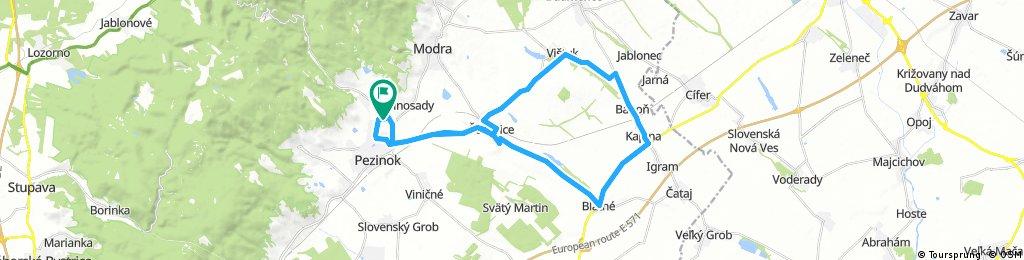 Long bike tour through Pezinok