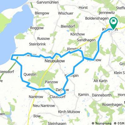 Klein Route mit Fischbrötchen in Perpelow