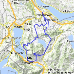 Cycling routes and bike maps in and around Horgen Allmend