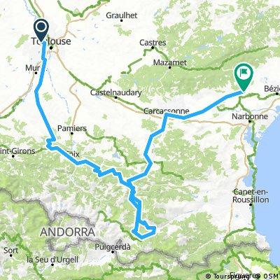 Montsegurdojazd do Quarante 350 km + pociąg za 1 euro