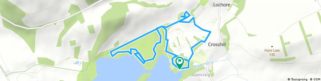 Easy Lochore trails loop (low)