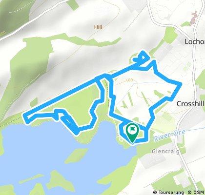 Easy Lochore trails loop (low)