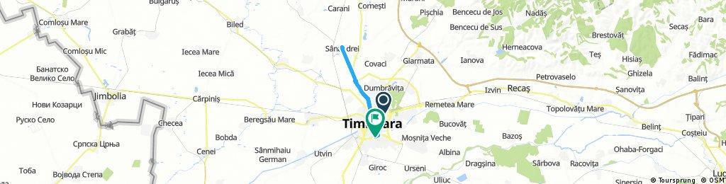 Long ride through Timișoara