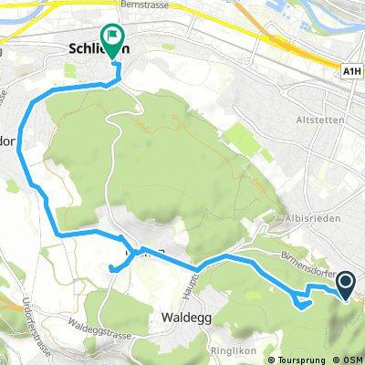 bike tour from Zürich to Schlieren