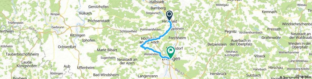 Bogen durchs Aischtal: Hirschaid - Erlangen