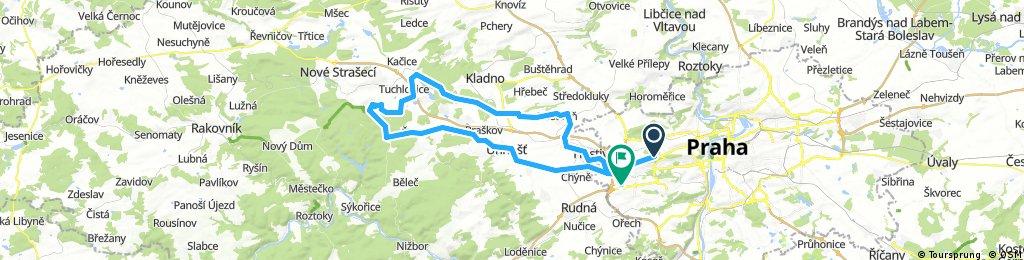 Praha - Unhošť - Lány a zpět přes Kladno