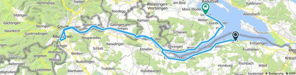 Giro del Lago di Costanza 2a tappa Berlingen - Schaffausen - Iznang
