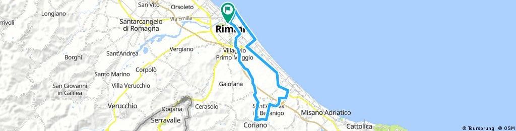 Rimini. Borgo. Coriano. Riccione.