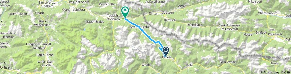 Padola - Innichen mixed TrailsSehr
