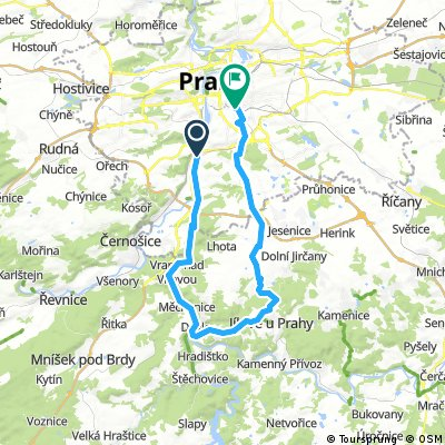 Lengthy bike tour through Praha