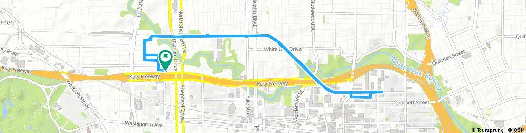 bike tour through Houston