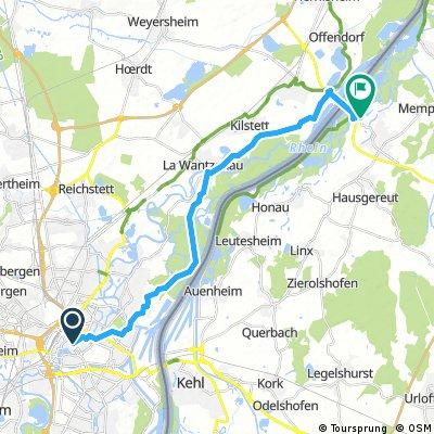 Von Strasbourg nach Robertsau, Lawanzenau Rheinnau