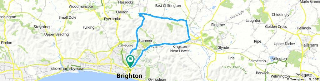 Brighton - Lewes - Ditchling Loop