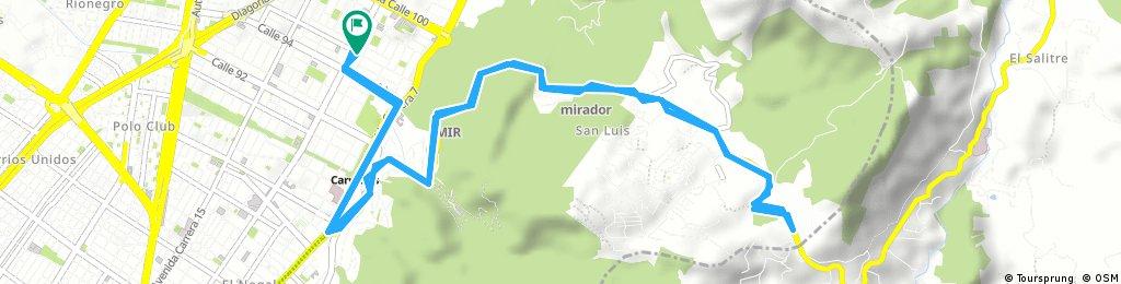 bike tour through Chapinero