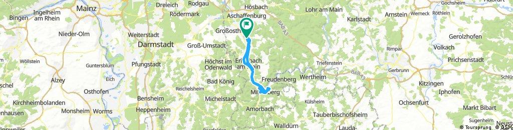 Lange Ausfahrt durch Sulzbach am Main
