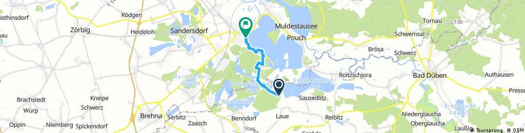 Kurze Radrunde von Löbnitz nach Bitterfeld-Wolfen