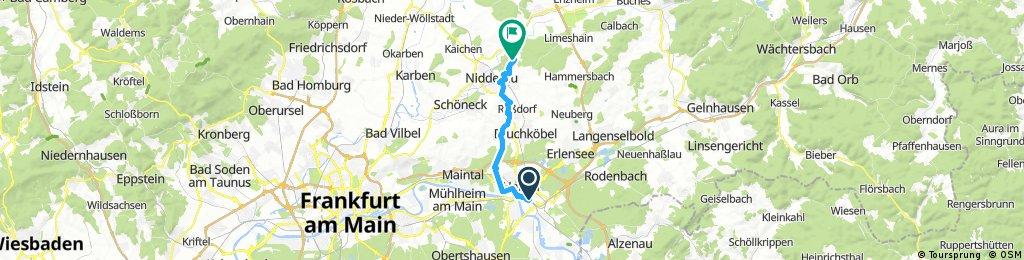 2017 Hanau raus Richtung Vulkanbahntrasse