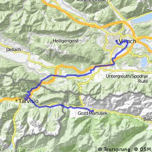 Cycling routes and bike maps in and around Villach Bikemap Your